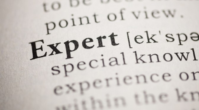 Think You're Not 'Expert' Material? I Do…