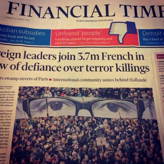 Financial Times' cover on January 12, 2015