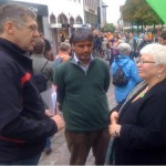 Übergabe der Petition für Bülent an Sigrid Beer