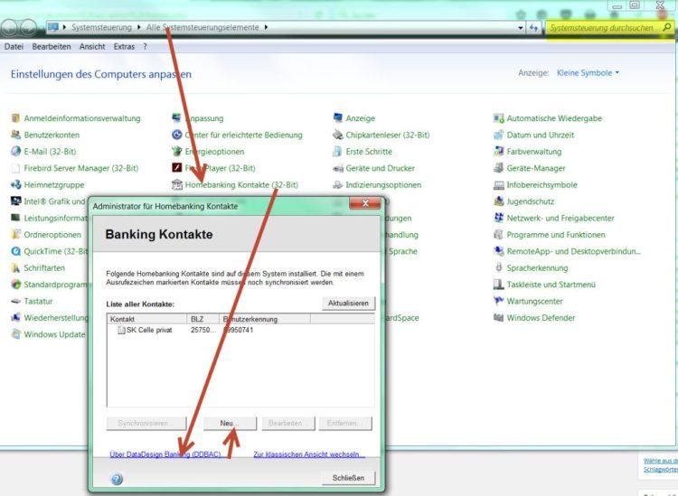 HBCI Modul in Windows aufrufen