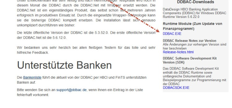 Lexware Online Banking: DDBAC