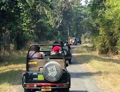 tiger jeep safari Kanha National Park Tiger reserve