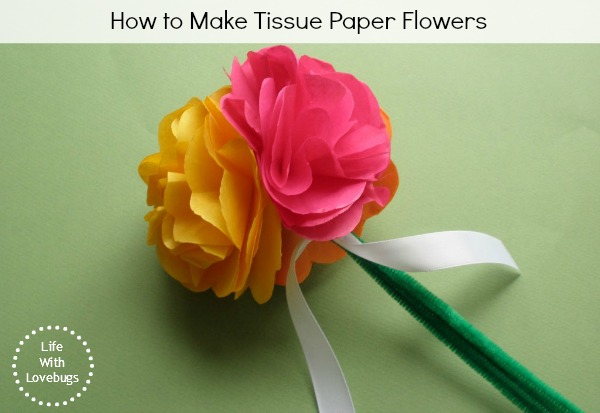 Tissue Paper Flowers Life With Lovebugs