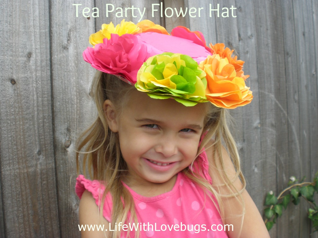 Tissue Paper Flower Hats Life With Lovebugs