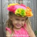 Tissue Paper Flower Hat