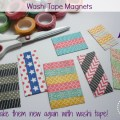 Make your magnets new with washi tape!