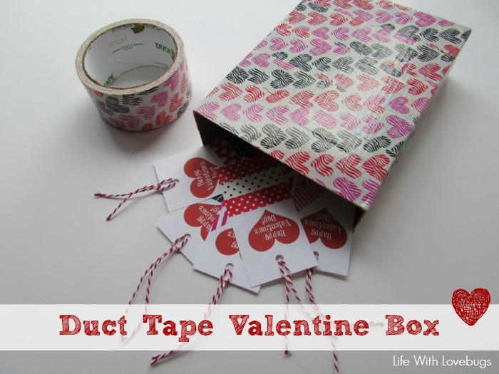 Duct Tape Valentines Box