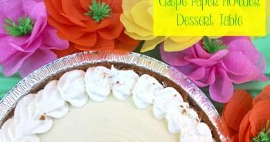Crepe Paper Flower Dessert Table