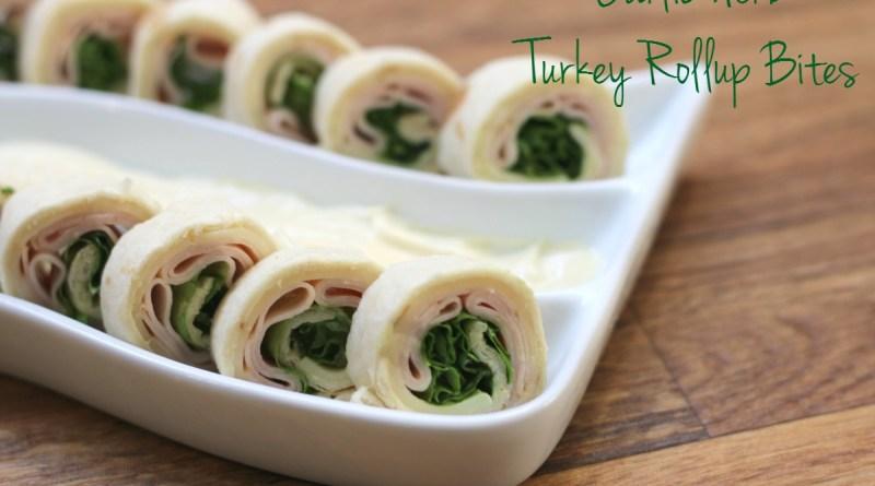 Garlic Herb Turkey Rollup Bites