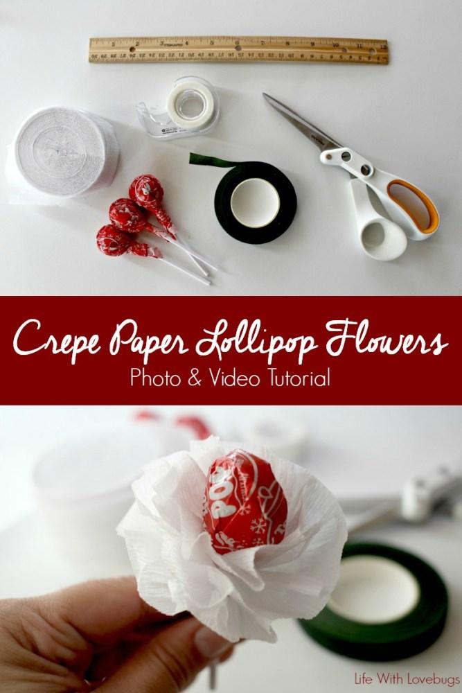 Crepe Paper Lollipop Flowers