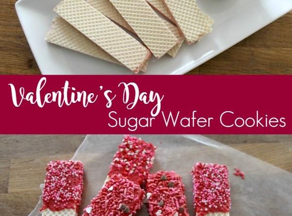 Valentines Day Sugar Wafer Cookies