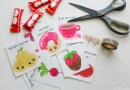 Printable Food-Themed Valentines Day Cards for Kids