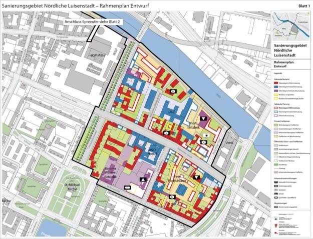 Ausschnitt aus dem Rahmenplan Stand August 2016