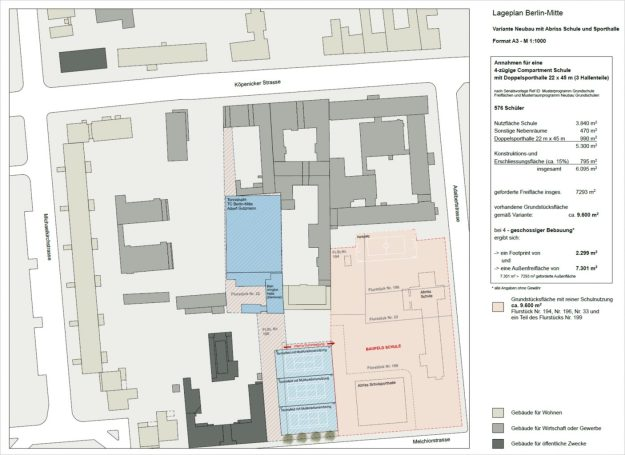Lageplan Adalbertschule und Sportanlage