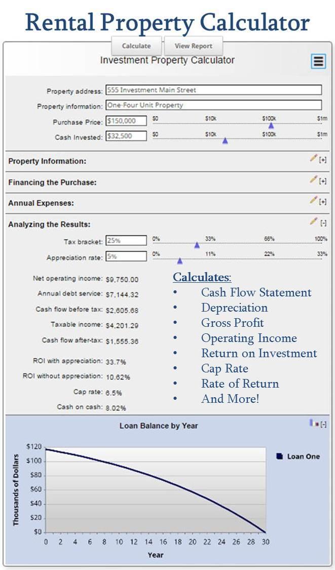 Investing - Rental Property Calculator