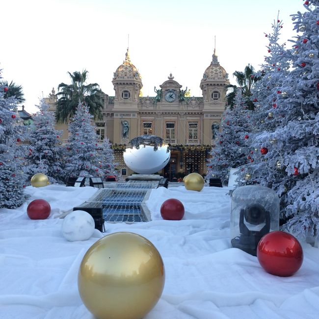 Christmas decorations, Monte Carlo Casino