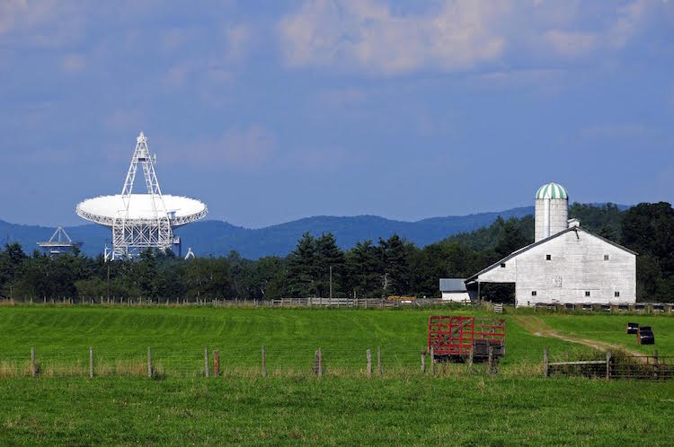 digital detox at National Radio Astronomy Observatory's Green Bank Science Center, Green Bank West Virginia