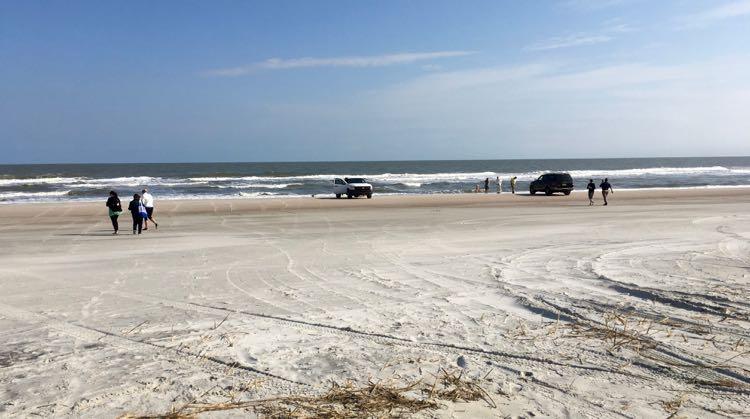 drive on the Amelia Island Florida beach sand