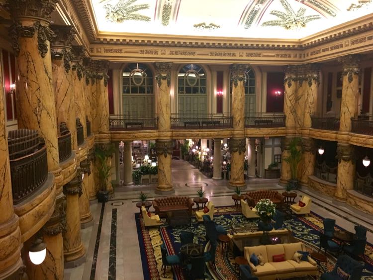 visit the lavish lobby of The Jefferson Hotel in Richmond Virginia