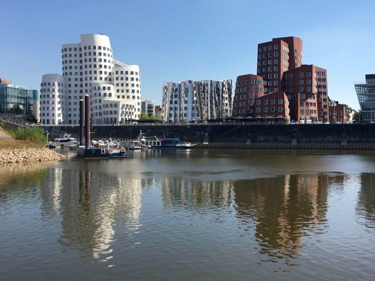 Dusseldorf Germany dancing buildings by Frank Gehry