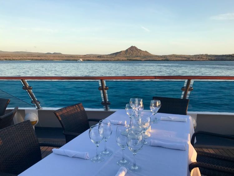 Celebrity Cruises Xpedition Dining Under the Stars in the Galapagos Islands