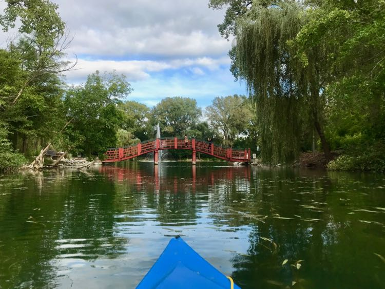 Rotary Botanical Gardens, Janesville, WI, from a kayak