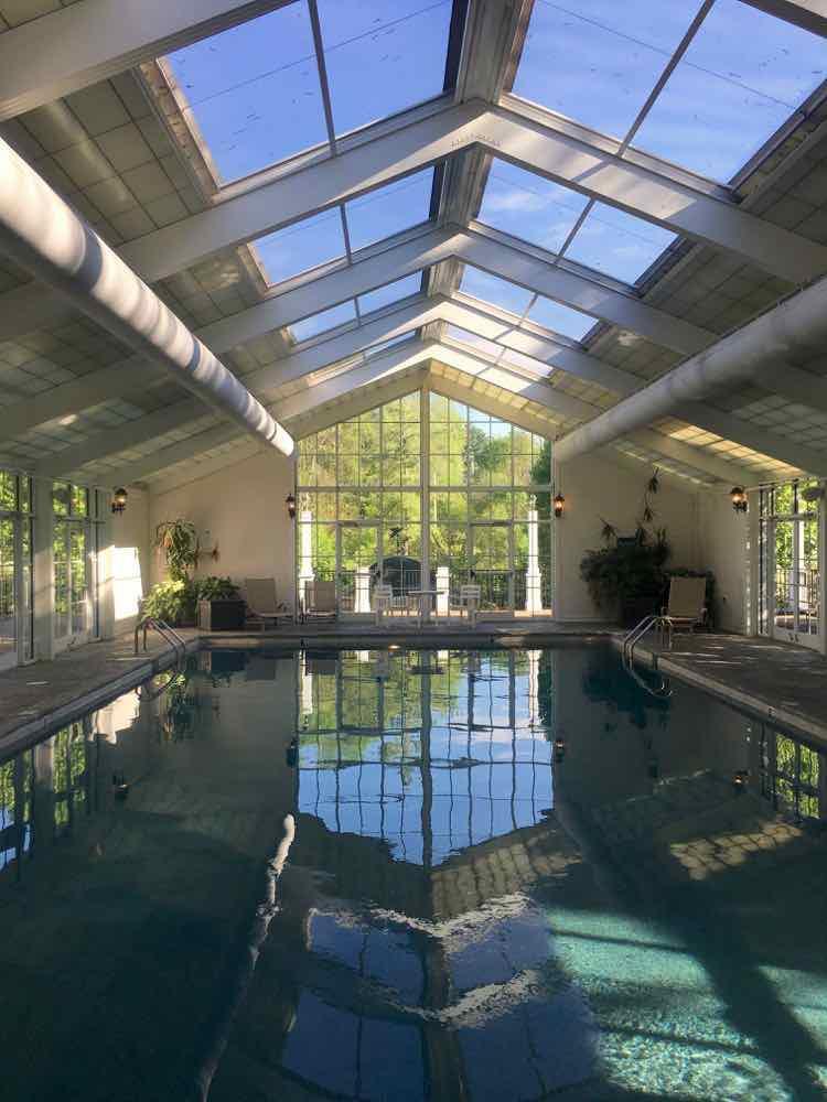 relax in the indoor salt water pool at Martha Washington Inn, Abingdon VA