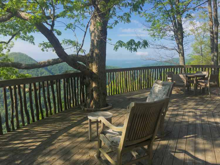 relax at your own tree house at Primland in Virginia