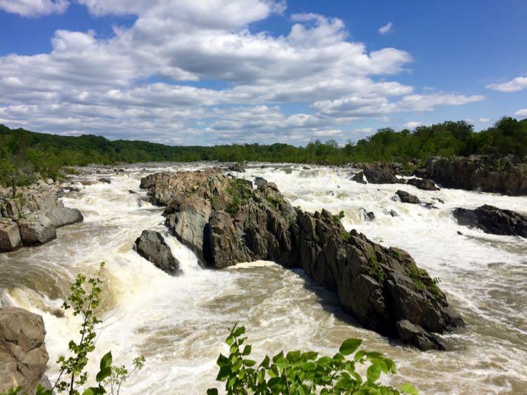 Great Falls Park in Northern Virginia is a fun DC getaway. photo by Julie McCool