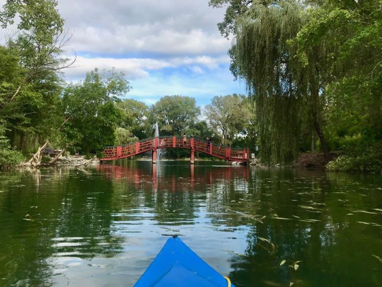 Japanese bridge at Rotary Botanical Gardens Janesville WI