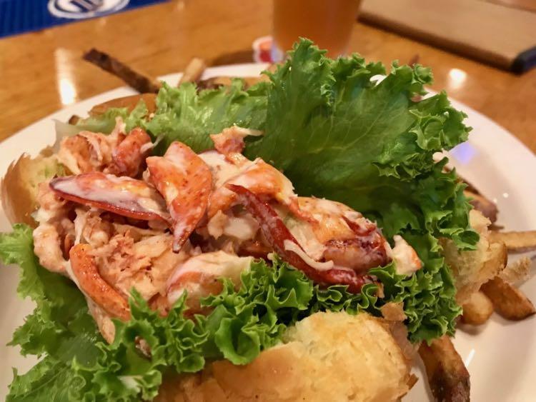 Lobster roll at Platform Sports Bar, Northampton MA