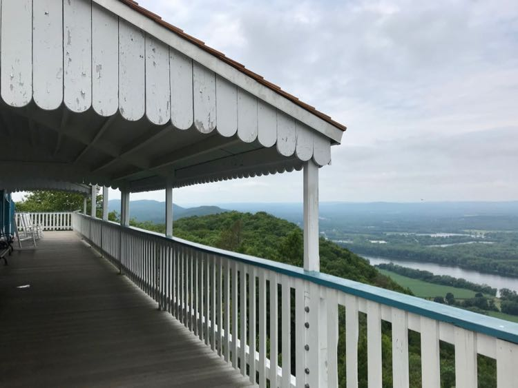 Skinner State Park porch in Hampshire County MA