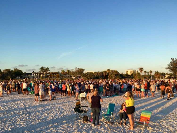 Siesta Key FL sunset drum circle