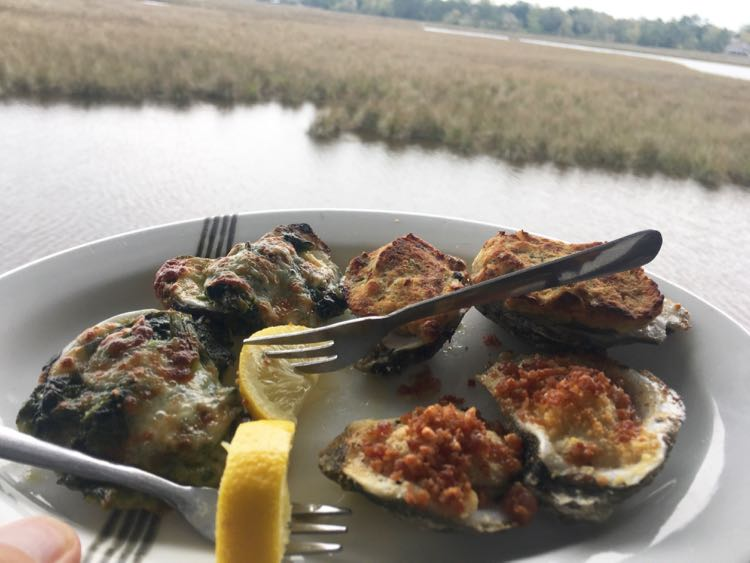 oysters at Mikey's on the Bayou, Ocean Springs