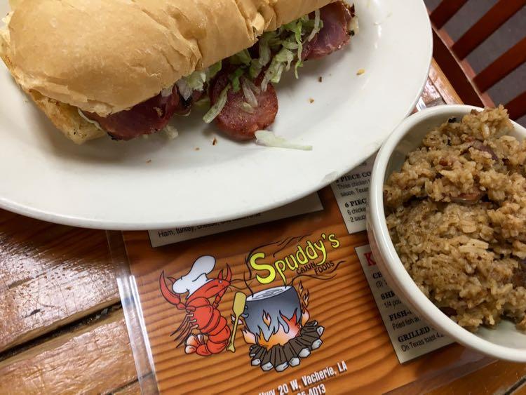 authentic Cajun cuisine at Spuddys in Vacherie Louisiana