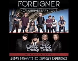 Image courtesy of Live Nation. Foreigner pic by Bill Bernstein, Cheap Trick pic by David McClister