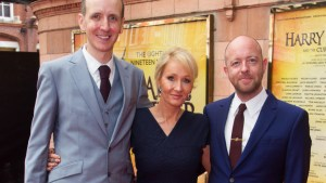 Jack Thorne, JK Rowling and John Tiffany Photo by Dan Wooller