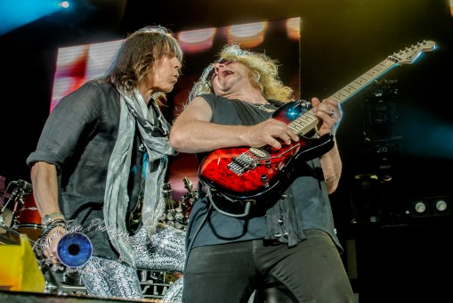 Jeff Keith and Frank Hannon of Tesla. Photo by Sean Derrick/Thyrd Eye Photography