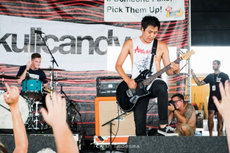 The White Noise performing Wednesday in Saint Louis for Vans Warped Tour. Photo by Ryan Ledesma.