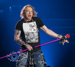 Axl Rose of Guns N' Roses performing in Saint Louis Thursday. Photo by Sean Derrick/Thyrd Eye Photography