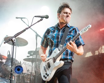Jimmy Eat World performing at the Hollywood Casino Amphitheatre in Saint Louis Tuesday. Photo by Sean Derrick/Thyrd Eye Photography.