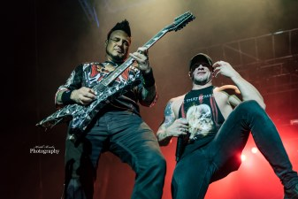 Five Finger Death Punch at Moonstock 2017. Photo by Keith Brake Photography.