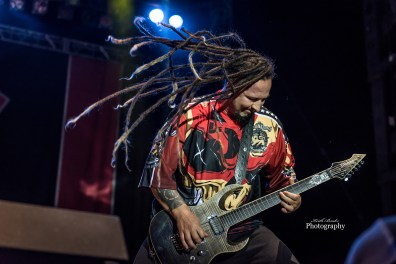 Zoltan Bathory of Five Finger Death Punch at Moonstock 2017. Photo by Keith Brake Photography.