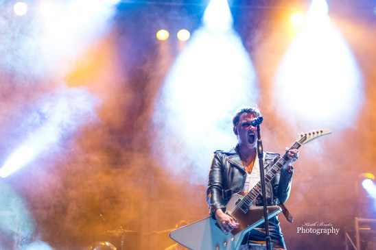 Lzzy Hale of Halestorm performing at Moonstock 2017. Photo by Keith Brake Photography.