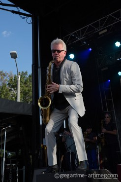 Huey Lewis and the News at Loufest photo by Greg Artime