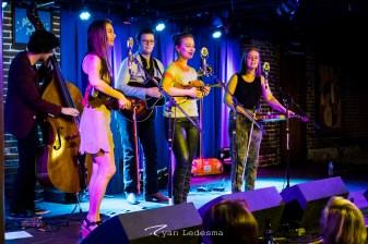 The Quebe Sister singing. Photo courtesy of Ryan Ledesma.