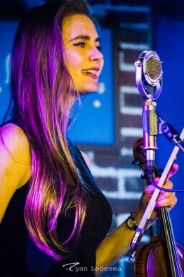 Grace Quebe singing. Photo courtesy of Ryan Ledesma.