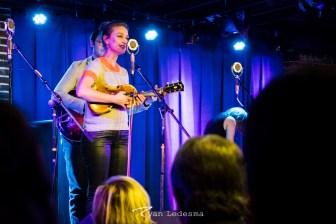Sophia Quebe singing. Photo courtesy of Ryan Ledesma.