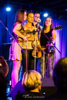 The Quebe Sisters singing in harmony. Photo courtesy of Ryan Ledesma.