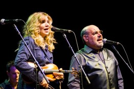 Alison Krauss and Sidney Cox perform at the Peabody Opera House. Photo by Ryan Ledesma.